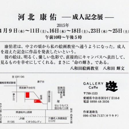 河北康佑 成人記念展 ギャラリー遊