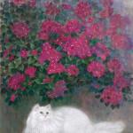 猫とブーゲンビリア 藤田芳子