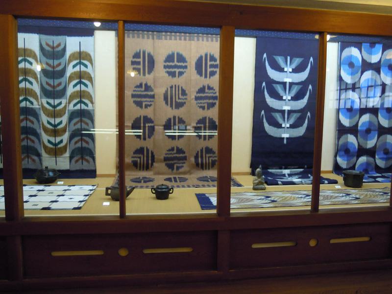 石工と妹尾紀子織布展 愛媛民芸館
