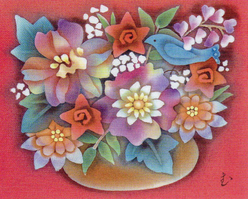布と革の花ひらく染色展